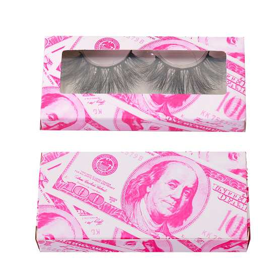 Free lashes packaging and money paper packaging