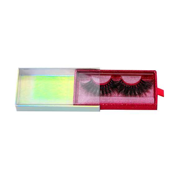 Holographic drawer lashes packaging