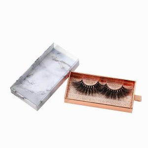 Marble drawer eyelash packaging