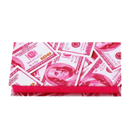 Red USD Dollar lashes packaging