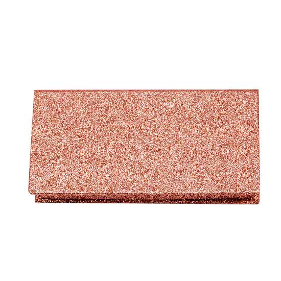 Rose gold glitter lashes packagings