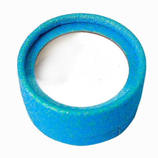 Wholesale blue glitter round lashes cases from lashes vendor