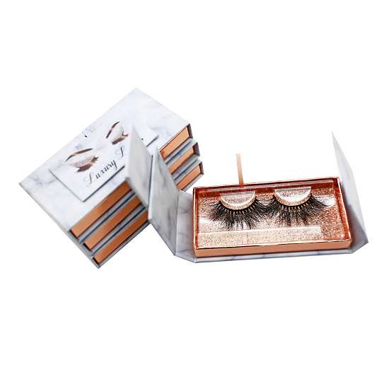 Wholesale marble lashes packaging